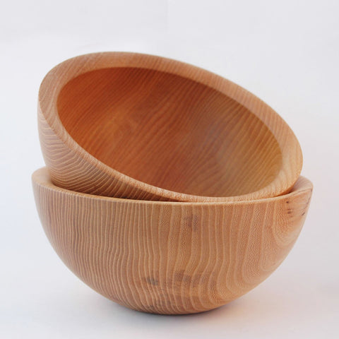 irish wooden handmade breakfast and fruit bowl