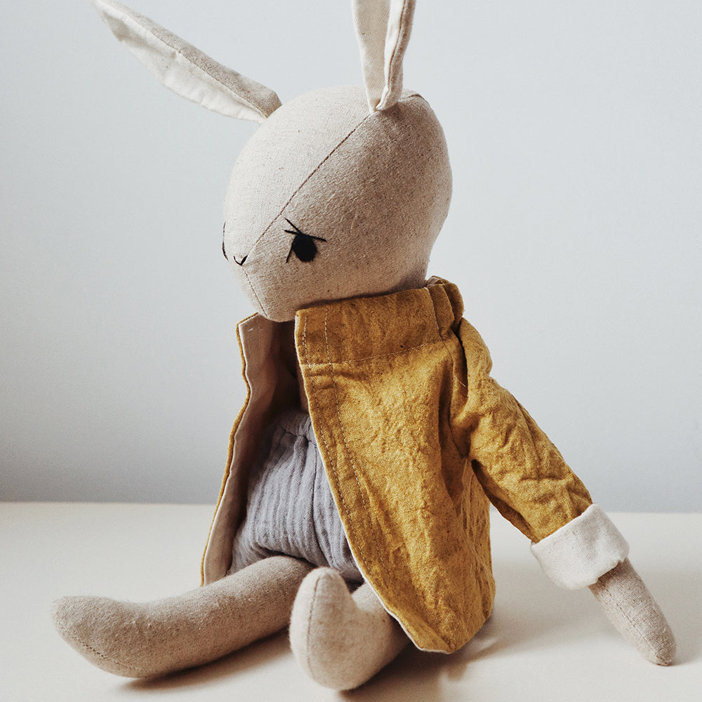Bruno Bunny Doll With Handmade Clothes