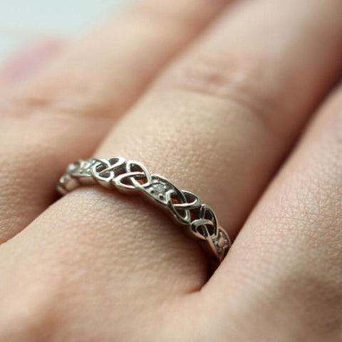 Diamond Celtic Irish Ring
