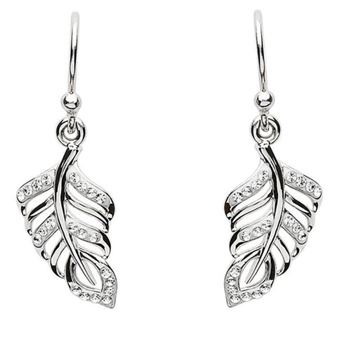 Swarovski Crystal Leaf Design Earrings