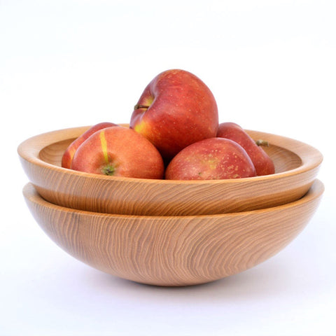 wood salad cereal bowl hand crafted