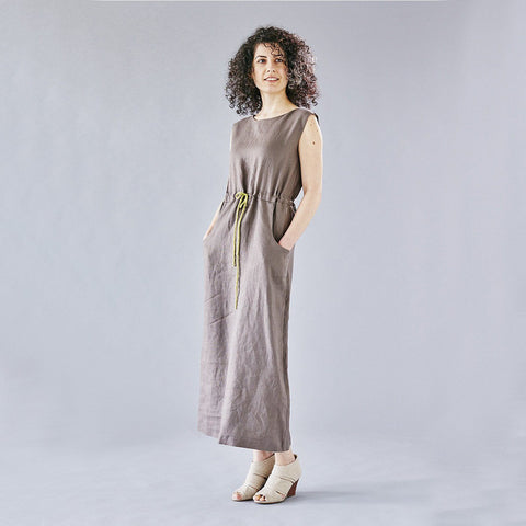 maxi linen dress with pockets