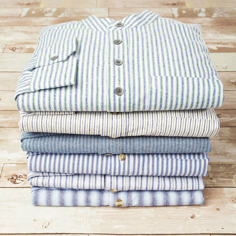 Irish Cotton Linen Grandfather shirts