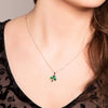 Irish Made Green Shamrock Necklace Toronto