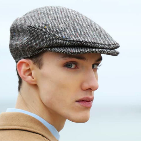 Irish tweed patchwork cap
