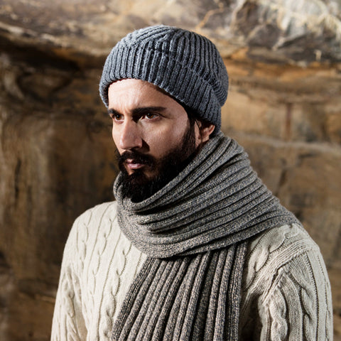 Irish Knitwear Men's Wool Scarf