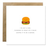 Greeting Card - Burger