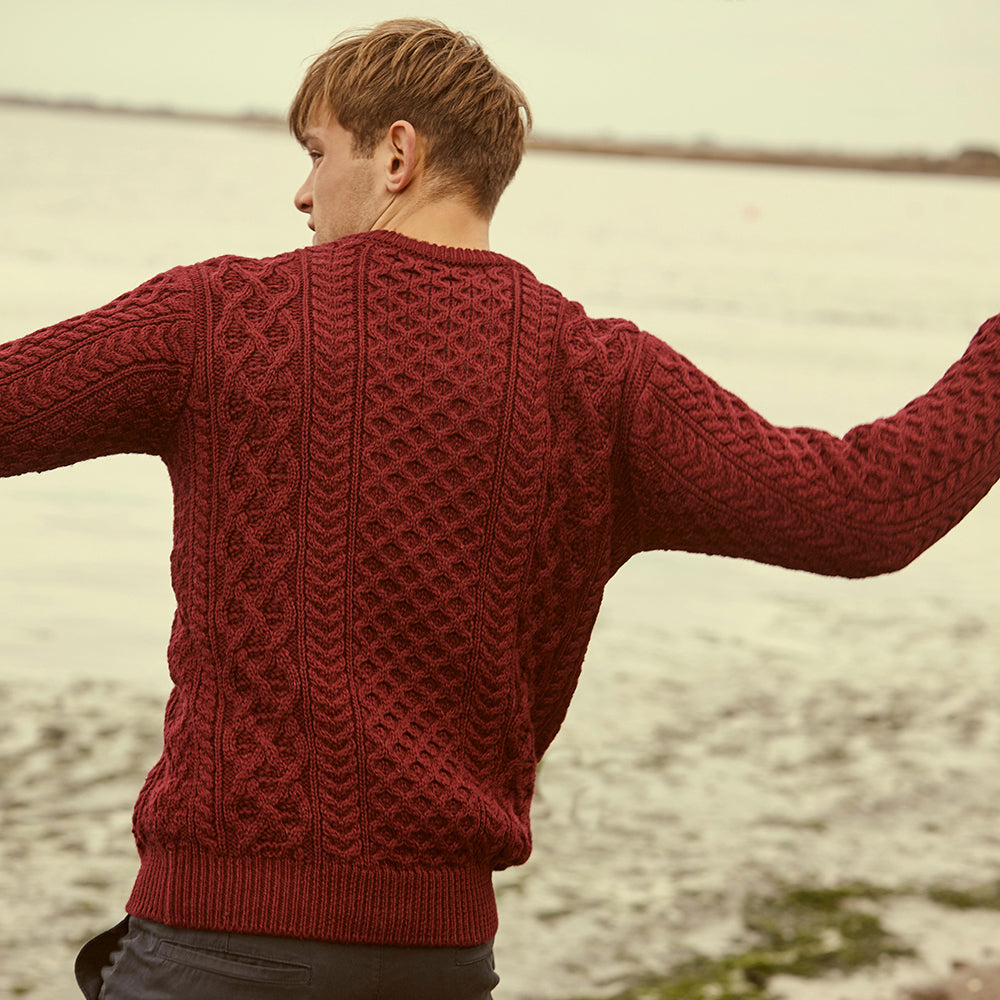 Handmade Aran Merino Wool Irish Sweater