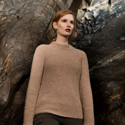 Ladies Irish Knit Alpaca Sweater - Arriving FALL 2017