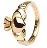 traditional Irish claddagh ring 10k gold