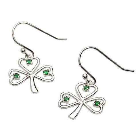 Irish Made Green Shamrock Earrings Toronto