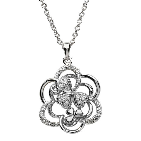 Irish Made Sterling Silver Shamrock Necklace Toronto