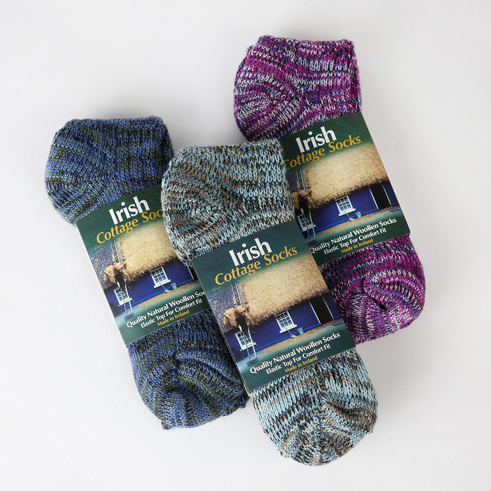 Irish wool knitted socks warm cottage sock