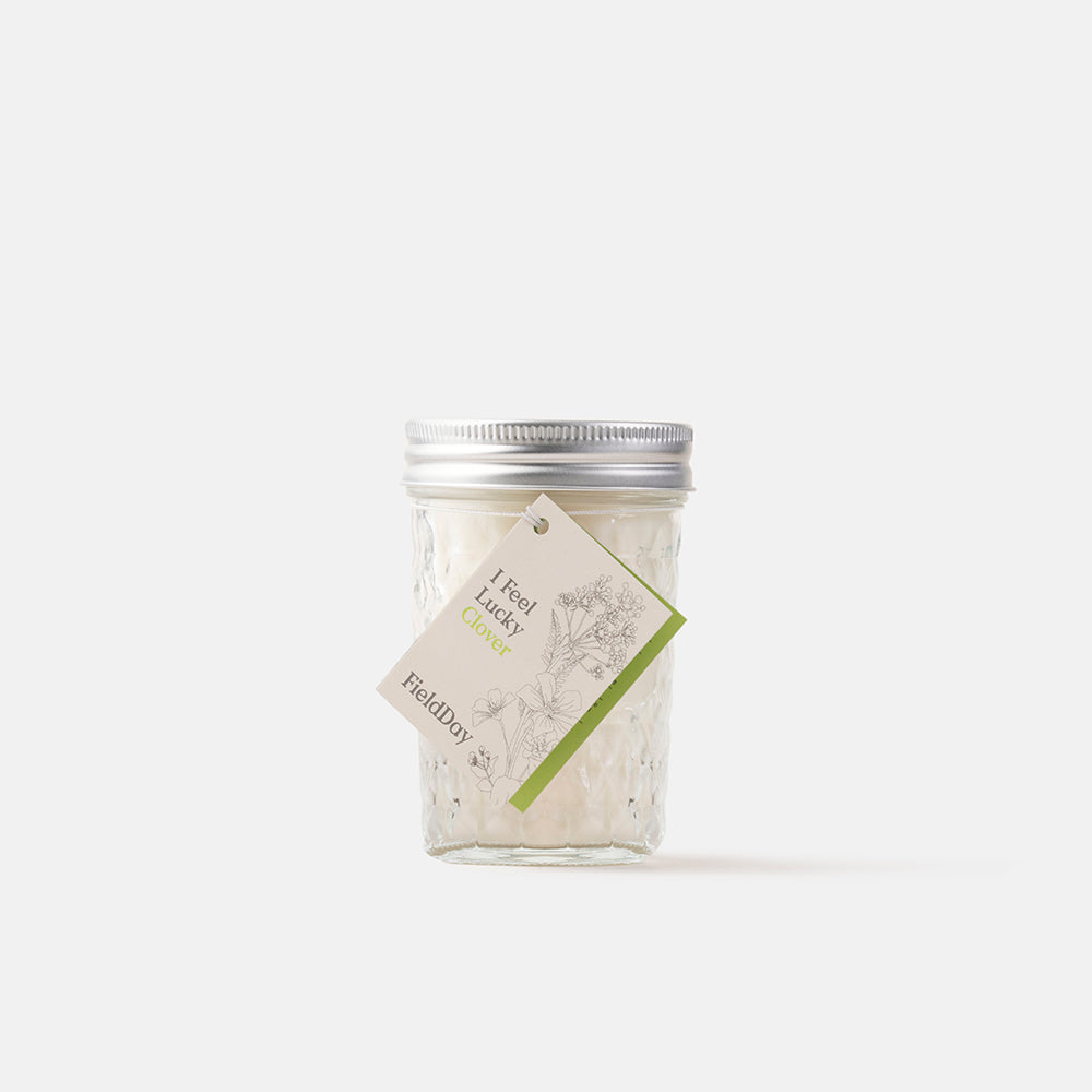 Irish Made Jam Jar Clover Candle