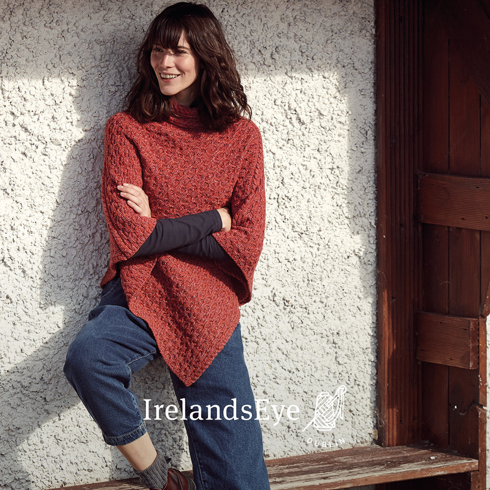 Irish Made Cashmere Wool Cable Style Cardigan