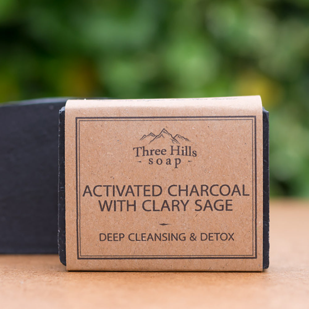Irish Made Natural Activated Charcaol Scent Soap