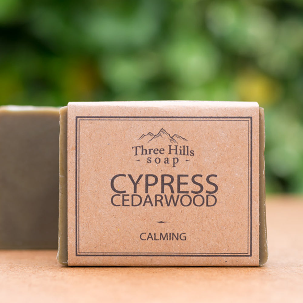 Irish Made Natural Cypress Cedarwood Scent Soap