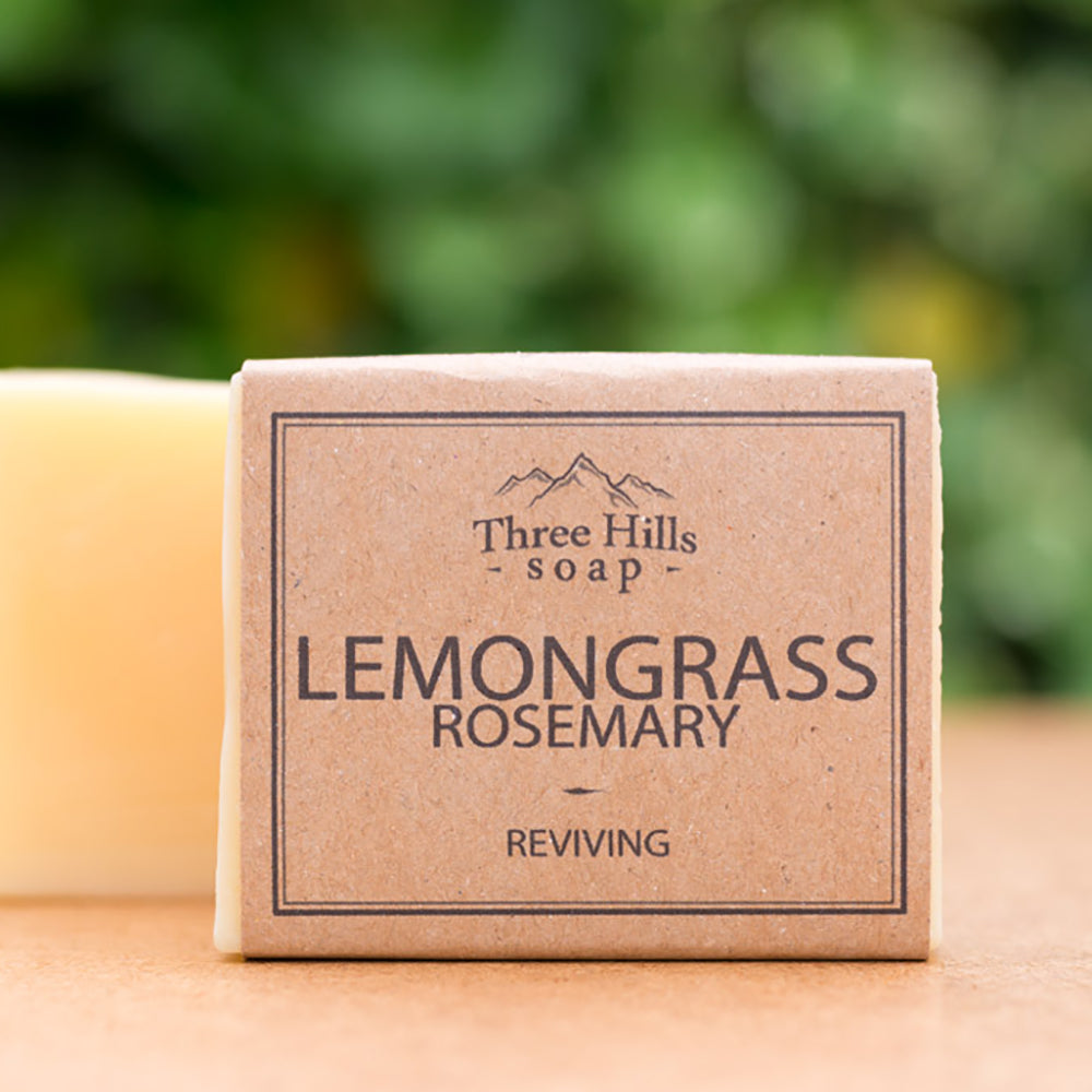 Irish Made Natural Lemongrass Rosemary Scent Soap