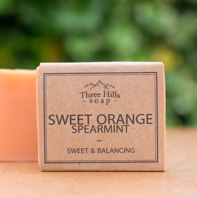 Irish Made Natural Sweet Orange Spearmint Scent Soap