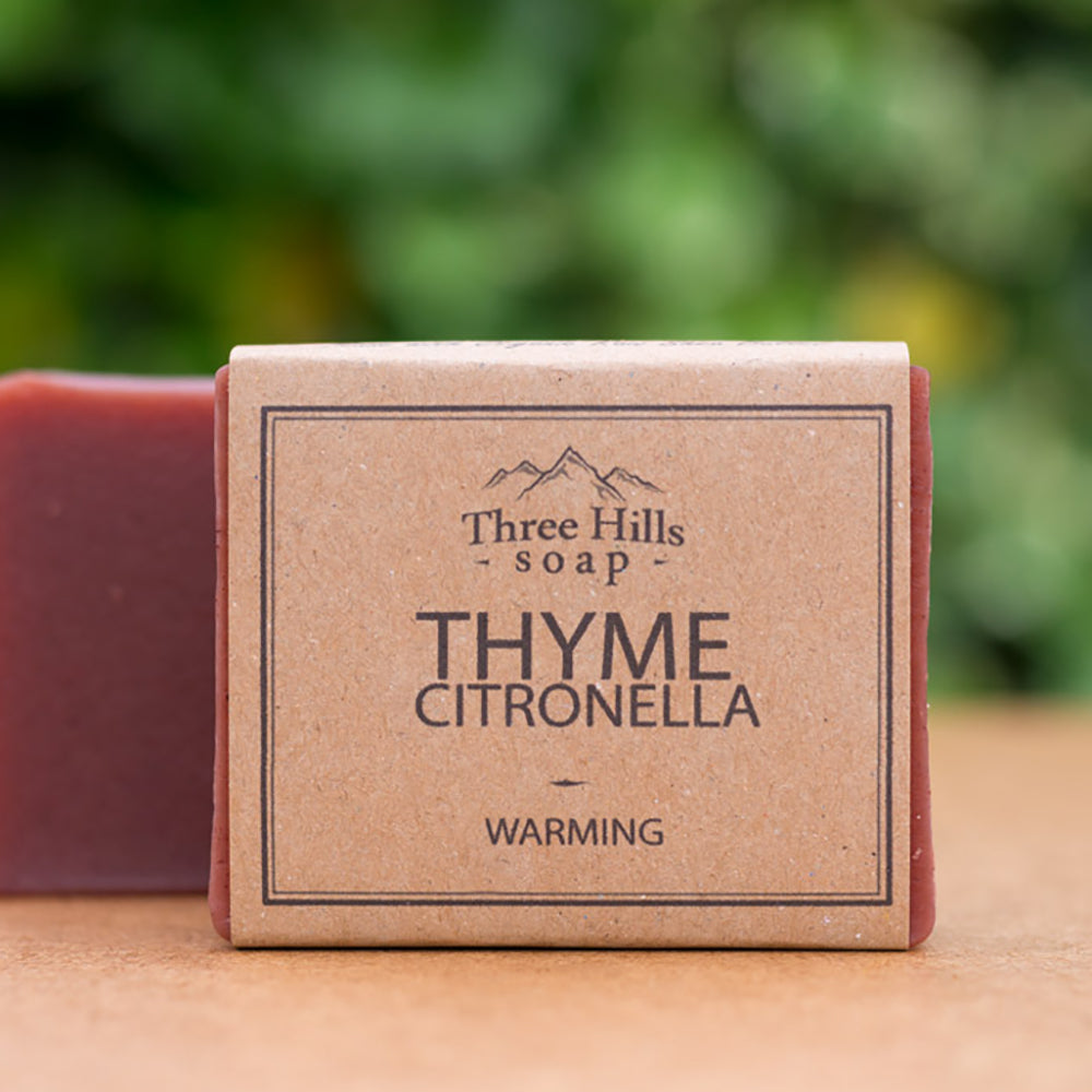Irish Made Natural Thyme Citronella Scent Soap