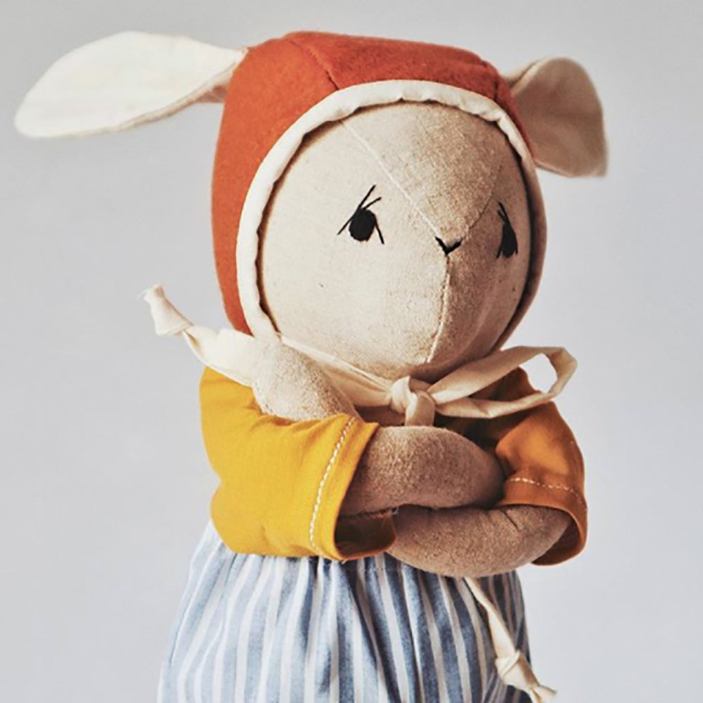 Handmade Irish Linen Kids Bunny Doll