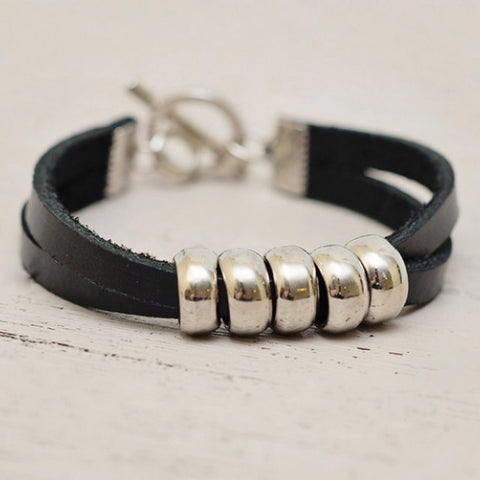 5 Lamps - Leather Bracelet
