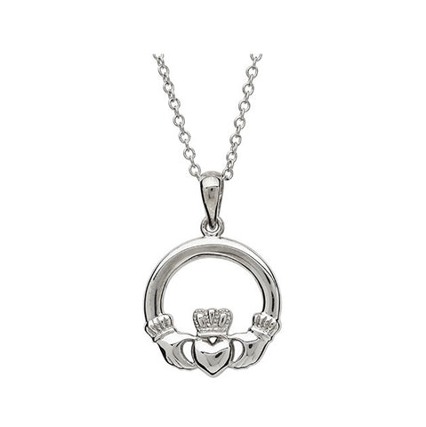 Classic Claddagh Pendant - Sterling Silver