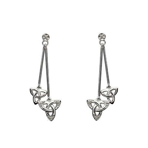 Irish Made Trinity Knot Silver Earrings Toronto