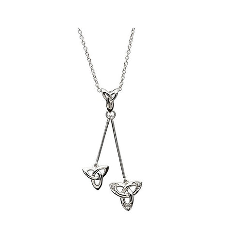 Irish Made Trinity Knot Silver Necklace Toronto