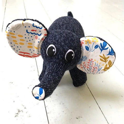 "Elephant Sock Toy - ""Edward"""