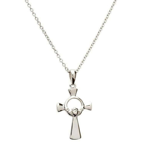 Irish Made Celtic Sterling Silver Cross Unique Necklace Toronto
