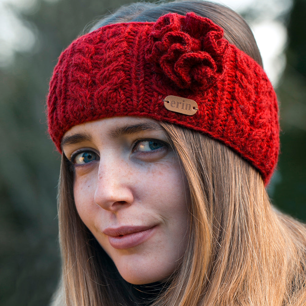 Irish Crochet Wool Headband