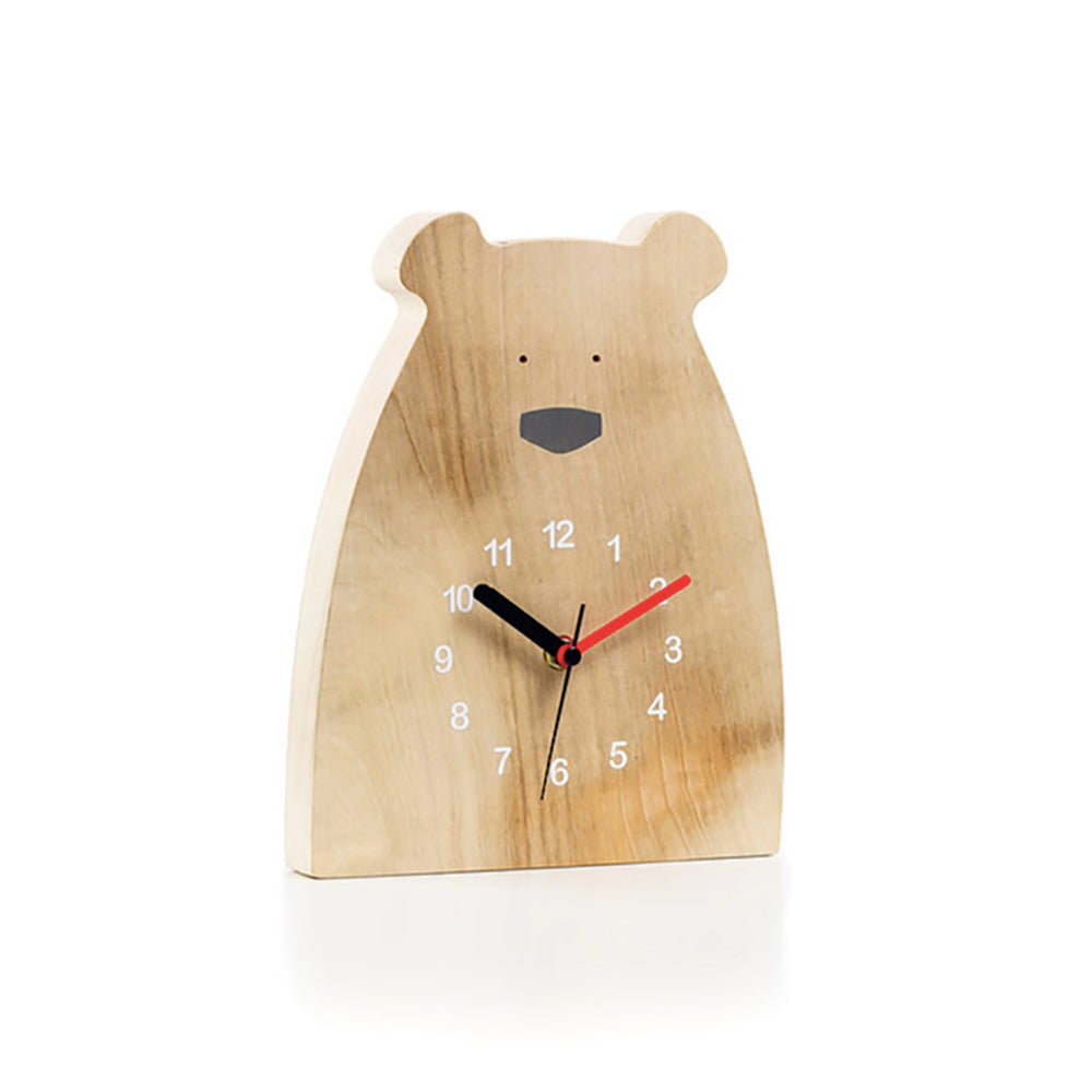 Irish Wooden Polar Bear Clock