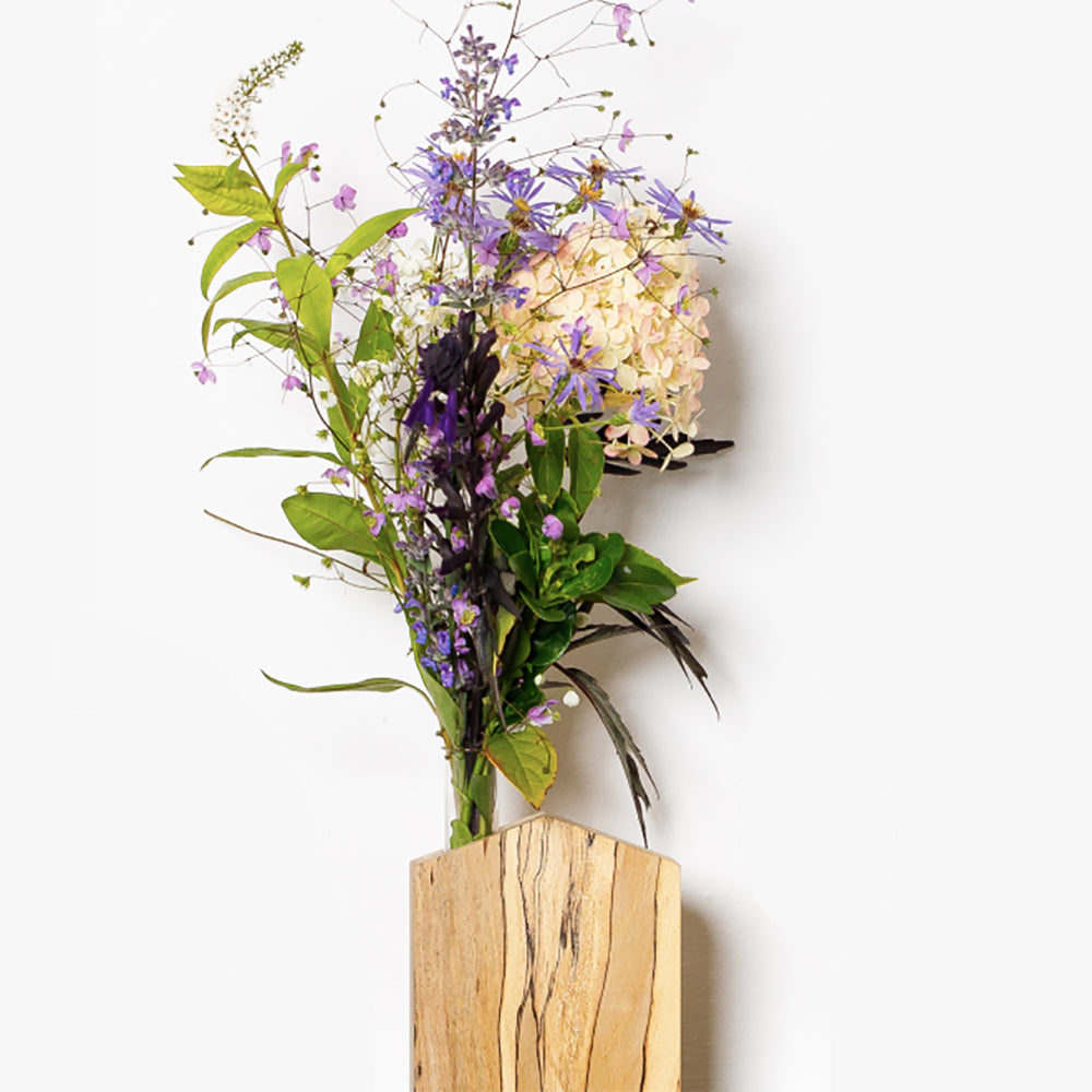 Irish Wood Flower Vase