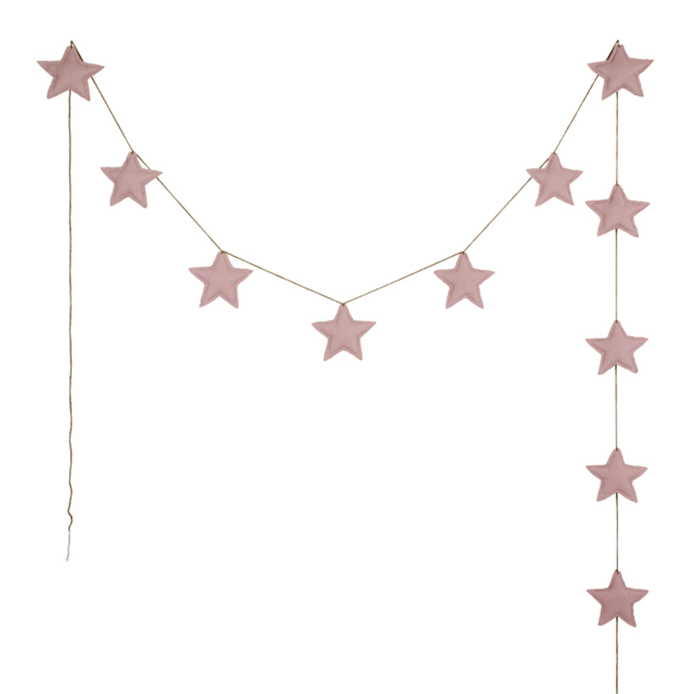 Girlande Mini Star Garland Cotton Baumwolle