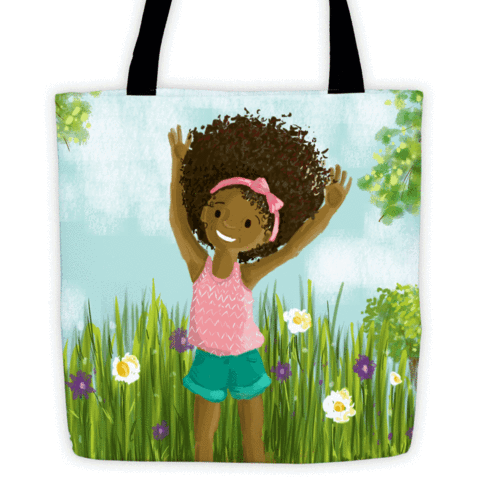 big hair don't care tote bag