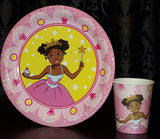 """I'm a Pretty Black Princess"" Deluxe Party Set for a black princess party! - Brown Girls Club - 6"
