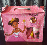 """I'm a Pretty Black Princess"" Deluxe Party Set for a black princess party! - Brown Girls Club - 2"