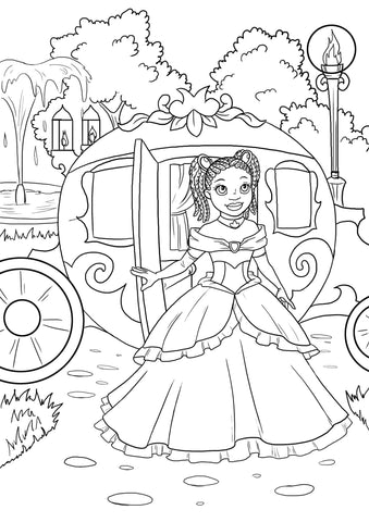 black fairy tales a coloring activity book black childrens book brown girls - Black Coloring Books