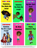 Premium Pack - 42 Printable Valentine's Day Cards for Black Children