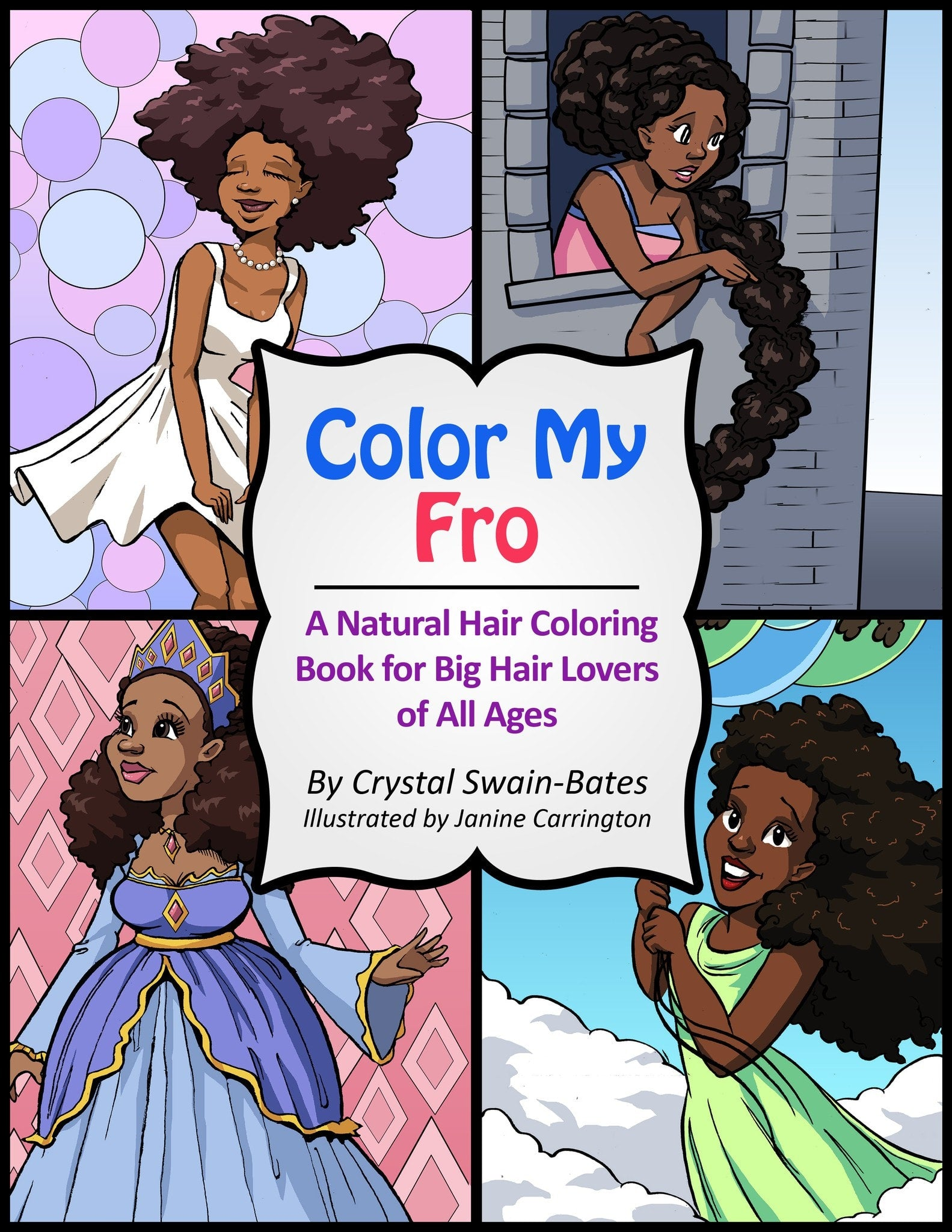 Color My Fro: A Natural Hair Coloring Book for Big Hair Lovers of ...
