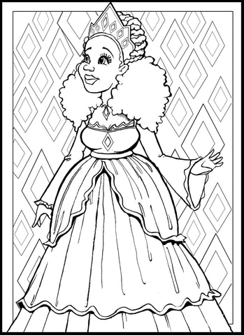 Color My Fro A Natural Hair Coloring Book For Big Hair Lovers Of
