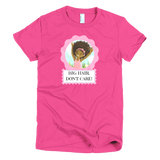 """Big Hair, Don't Care"" Girl's T-shirt - Brown Girls Club - 1"