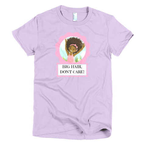 """Big Hair, Don't Care"" Girl's T-shirt - Brown Girls Club - 3"