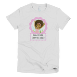 """Big Hair, Don't Care"" Girl's T-shirt - Brown Girls Club - 2"
