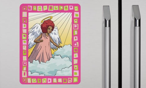 """African-American Angel in the Clouds""  Magnet - Pack of 5 - Brown Girls Club"