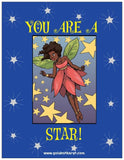 """You Are a Star!"" Magnet - Brown Girls Club - 1"