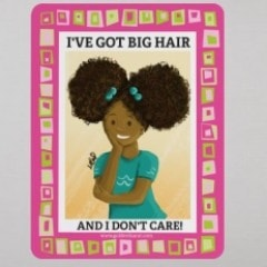 """I've Got Big Hair And I Don't Care"" Magnet - Brown Girls Club"