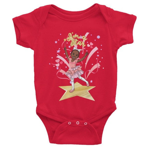 """I'm a Star"" Infant short sleeve one-piece - Brown Girls Club - 1"
