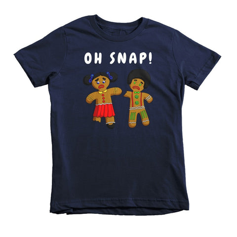"""Oh Snap!"" Afro Gingerbread Cookie African-American Kids Christmas T-shirt (2-6 years) - Brown Girls Club - 2"